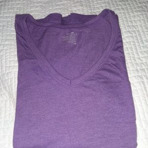 Purple vneck tshirt